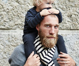 dad, baby, and beard image