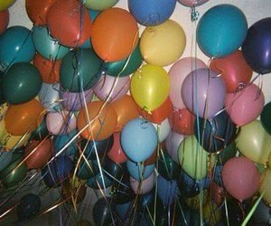 balloons, grunge, and party image