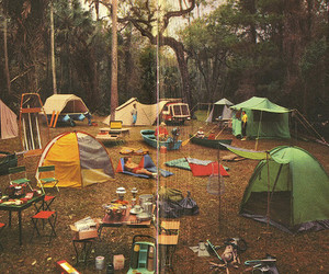 camping, camp, and tent image