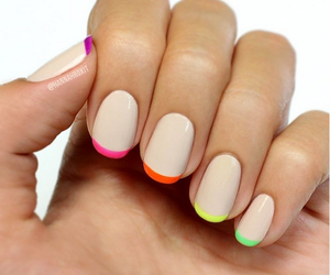 colours, french, and nail art image