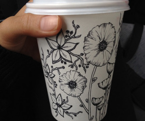 flowers, coffee, and art image