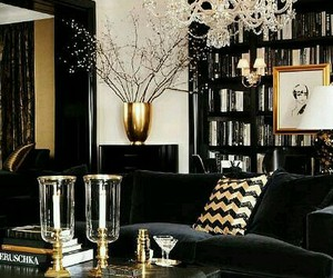 beautiful, black, and interior design image