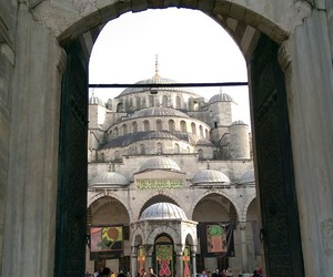 blue mosque, istanbul, and tourism image