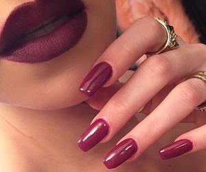 girl, lipstick, and make up image