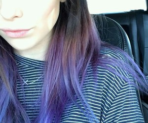 beautiful, colored, and hair image