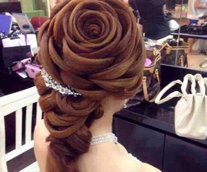 flower and hairstyle image