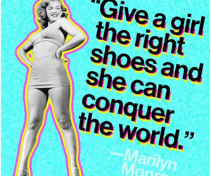 quote, shoes, and Marilyn Monroe image