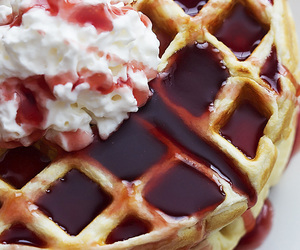 waffles, food, and yogurt image