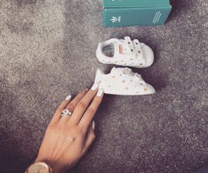 adidas, baby, and nails image
