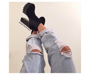 alternative, ankleboots, and fashion image