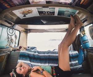 girl, hippie, and adventure image