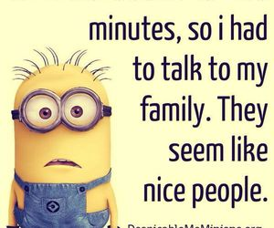 minions, funny, and family image
