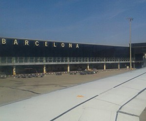airport, Barcelona, and flight image
