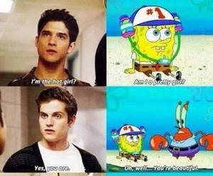 teen wolf, spongebob, and tyler posey image