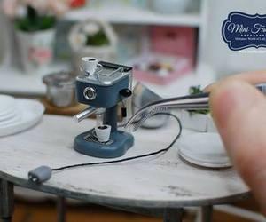 coffee, miniature, and cute image