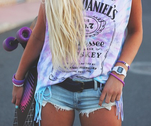 blonde, girly, and short image