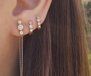 earings, girl, and hair image