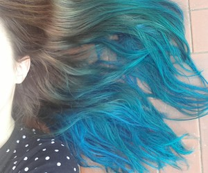 blue, color hair, and fashion image