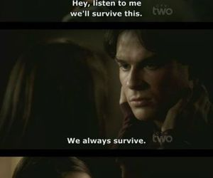 the vampire diaries, damon, and elena image