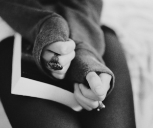 black and white, girl, and photography image