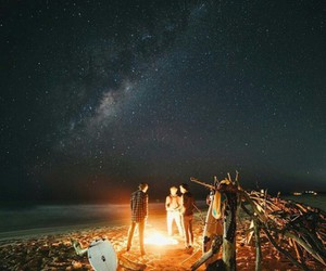 Dream, night, and fire image