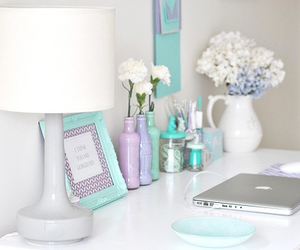 organised, pretty colours, and tiffany blue image