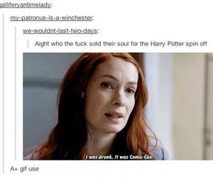 supernatural, harry potter, and tumblr image