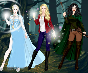 once upon a time, snow white, and elsa image