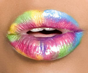 lips, colorful, and colors image