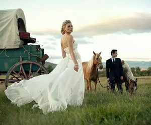 country, couple, and dress image