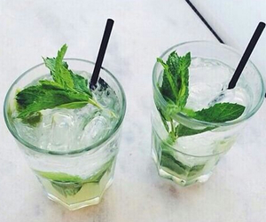 drink, mint, and mojito image
