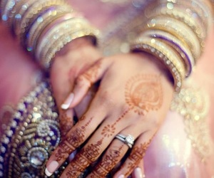 henna, bride, and india image