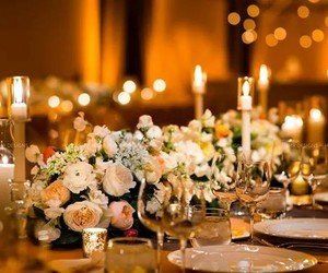 candles, flowers, and light image