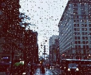 rain, city, and december image