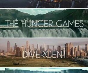 harry potter, divergent, and the hunger games image
