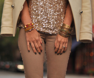 girl, style, and sparkly image