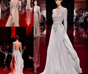 dress, elie saab, and silver image