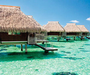 bora bora, hotel, and water image