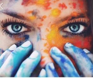 eyes, blue, and photography image