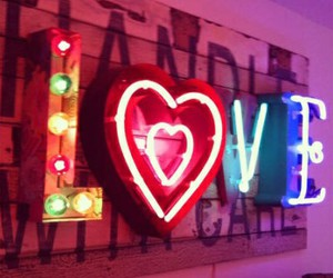 love, neon, and lights image