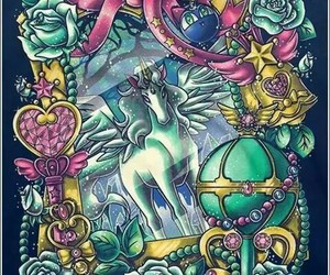 sailor moon, helios, and pegasus image