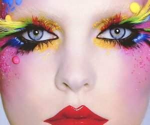 colorful, eyes, and face image