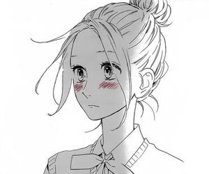 manga, black and white, and hirunaka no ryuusei image