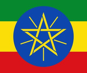 flag and ethiopia. image
