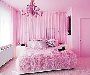 barbie, bedroom, and pink image
