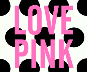 pink, wallpaper, and love pink image