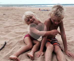 beach, boy, and girl image