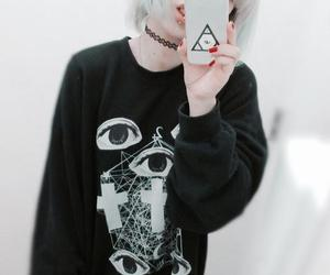 asian, grunge, and pale image