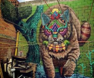 gato, graffiti, and mural image