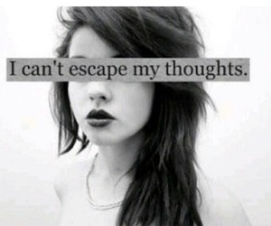 girl, thoughts, and escape image